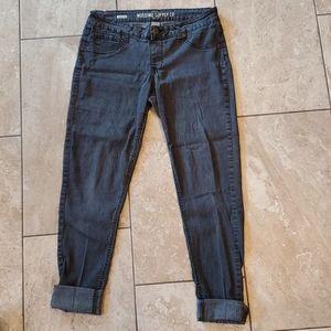 3/$12 Massimo jeggings stretchy gray/black